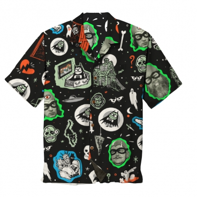 the-aquabats - Kooky Spooky Aloha Shirt (Black)