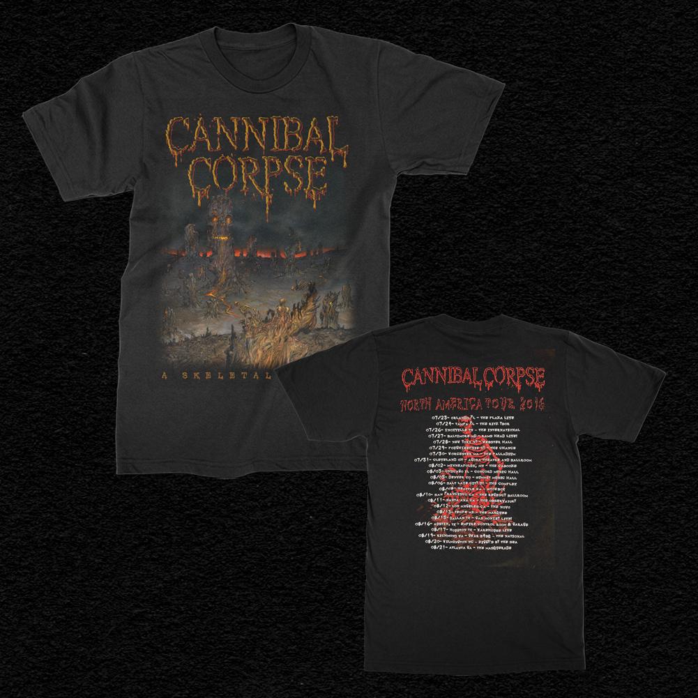 2016 Skeletal Domain Tour T-Shirt (Black)