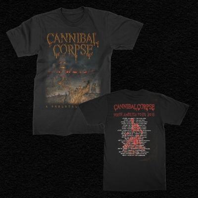 cannibal-corpse - 2016 Skeletal Domain Tour T-Shirt (Black)