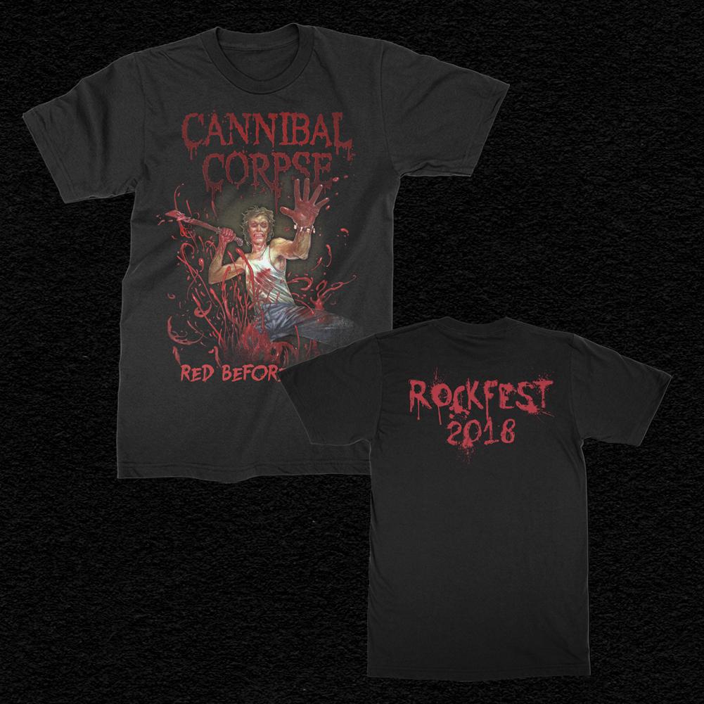 IMAGE   2018 Rockfest Red Before Black T-Shirt (Black)