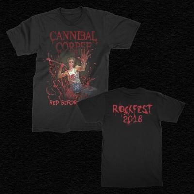 cannibal-corpse - 2018 Rockfest Red Before Black T-Shirt (Black)