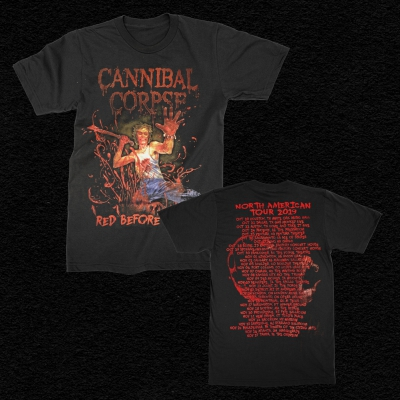 cannibal-corpse - 2019 Red Before Black Tour T-Shirt (Black)