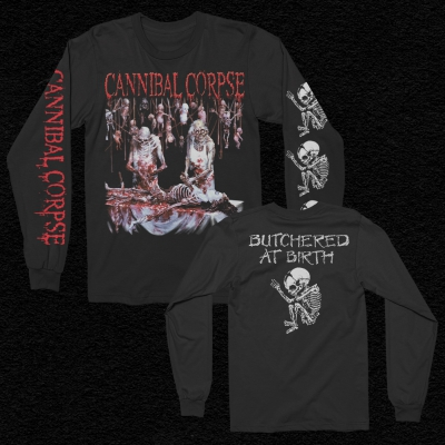 Butchered At Birth Long Sleeve T-Shirt (Black)