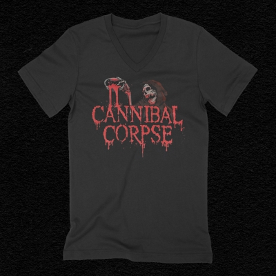 cannibal-corpse - Blood Ghoul Women's V-Neck T-Shirt (Black)