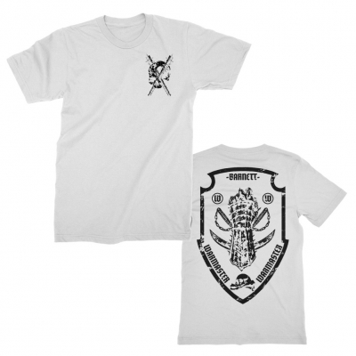 Bat/Skull Fist Crest (White)