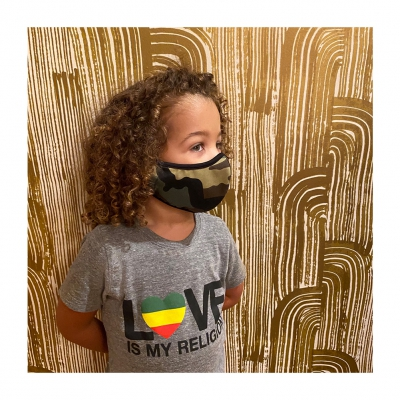 ziggy-marley - Limited Edition Kids Camo Face Mask (4-7 years)