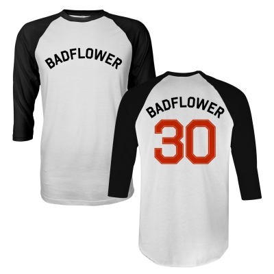 badflower - 30 Raglan (White/Black)