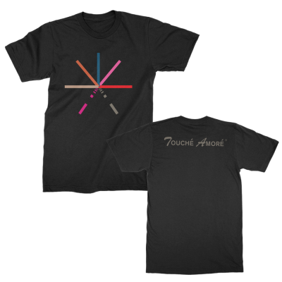 touche-amore - 7 Color Asterisk Tee (Black)