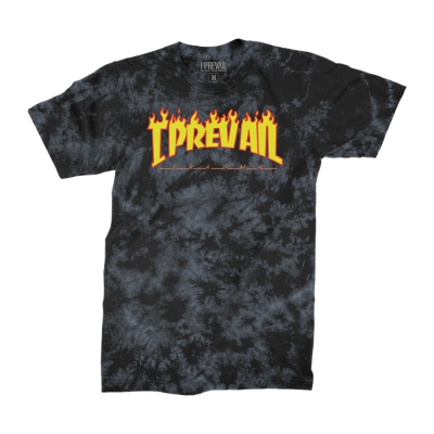 Thrasher Logo Acid Wash Tee (Black/Gray)