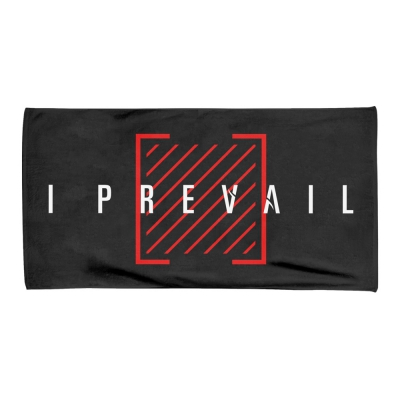 Trauma Logo Beach Towel (Black)