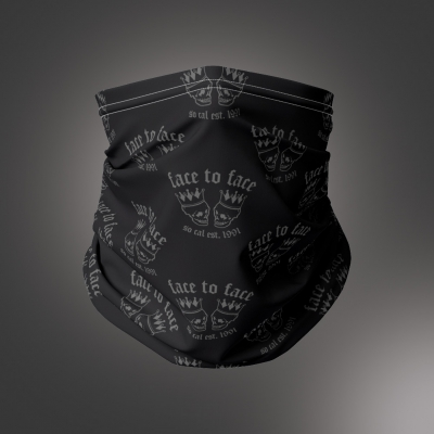 face-to-face - Skull Crown Neck Gaiter (Black)