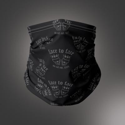 face-to-face - Skull Crown Neck Gaiter (Black)