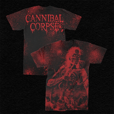 cannibal-corpse - Eaten Back To Life All Over Print T-Shirt (Red)