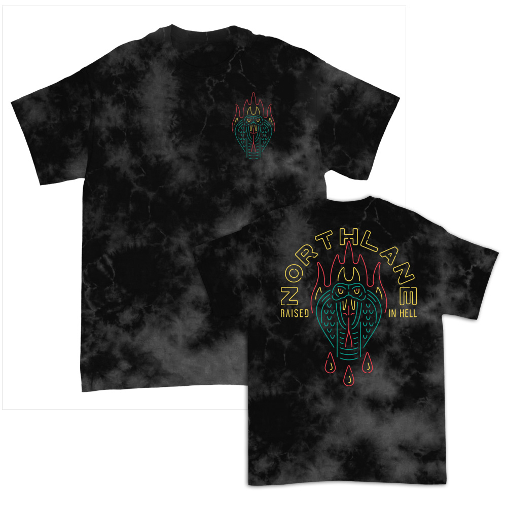 IMAGE   Raised In Hell T-Shirt (Crystal Wash Black)