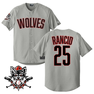 rancid - Wolves Limited-Edition Baseball Jersey (Grey)