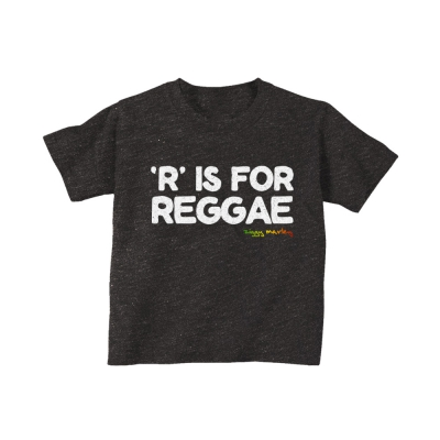 ziggy-marley - R is for Reggae Toddler Tee (Charcoal Blk Heather)