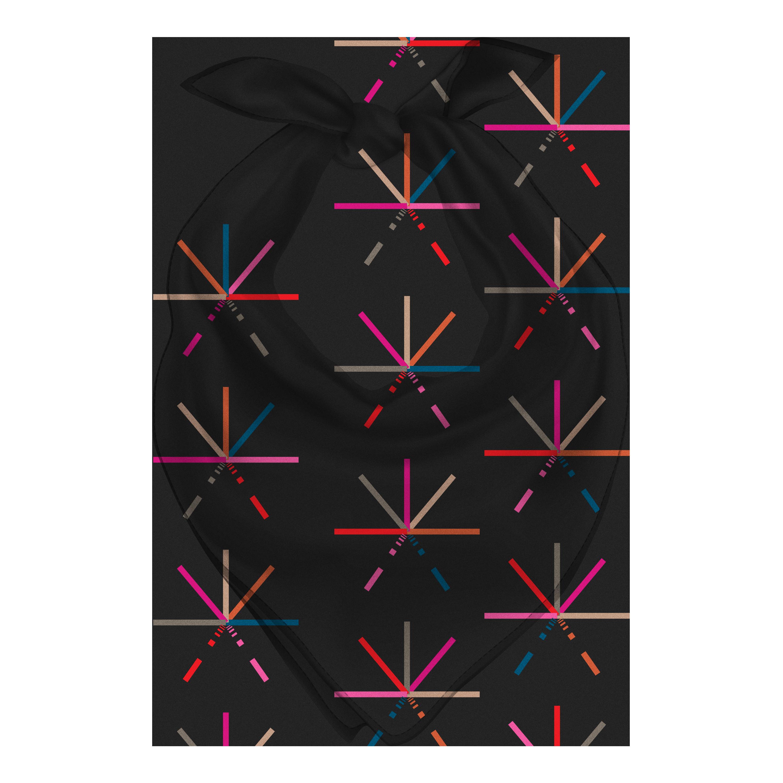 IMAGE | 7 Color Asterisk Bandana (Black)