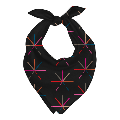 7 Color Asterisk Bandana (Black)