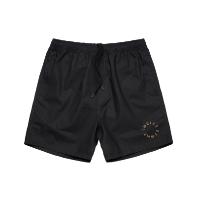 touche-amore - Embroidered Stencil Logo Shorts (Black)