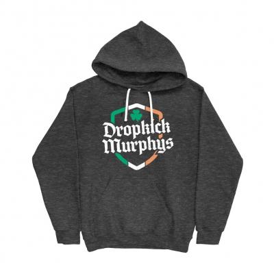 dropkick-murphys - Ire Shield Pullover Hood (Tri Onyx)