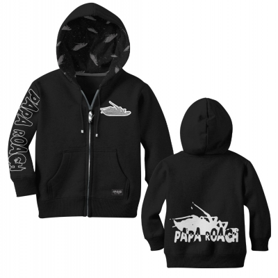 papa-roach - Infest Custom Zip Up Hoodie (Black)