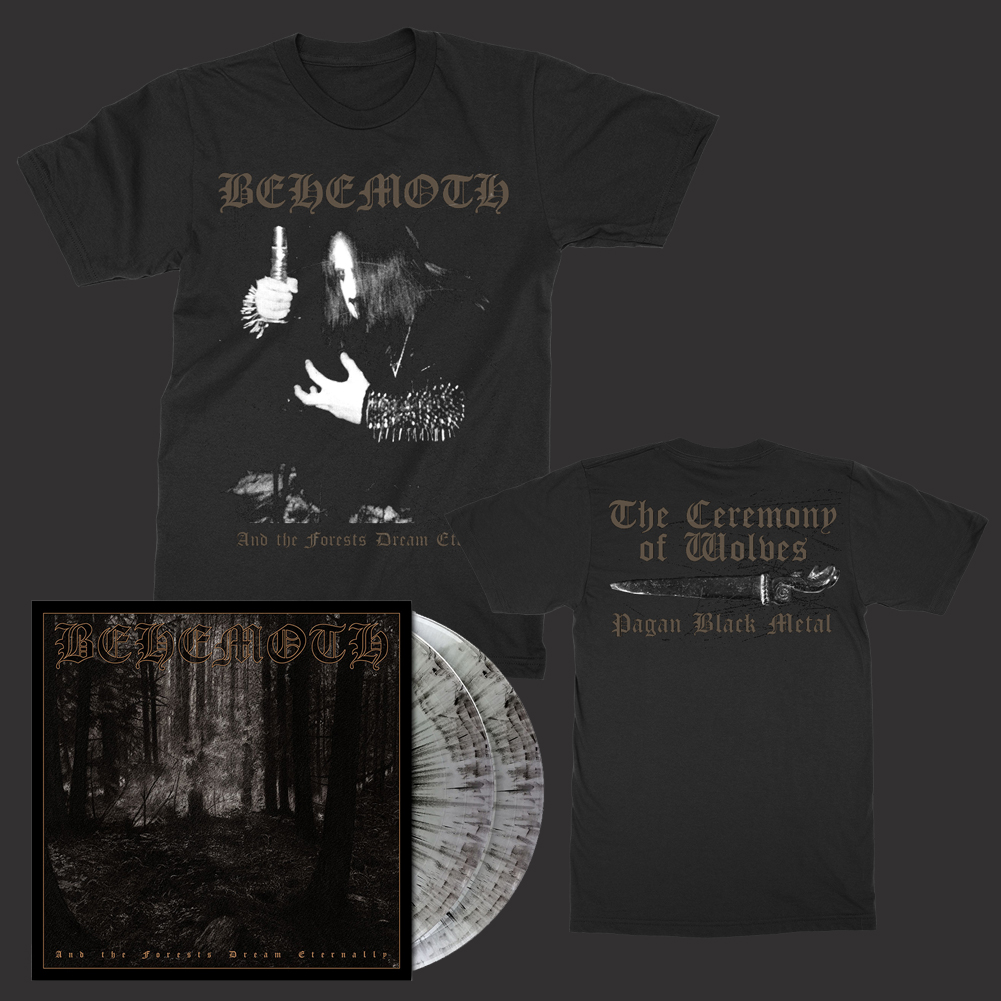 IMAGE | Forests 2xLP (Gray Marble) + Wolves T-Shirt Bundle