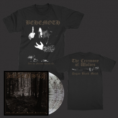 behemoth - Forests 2xLP (Gray Marble) + Wolves T-Shirt Bundle