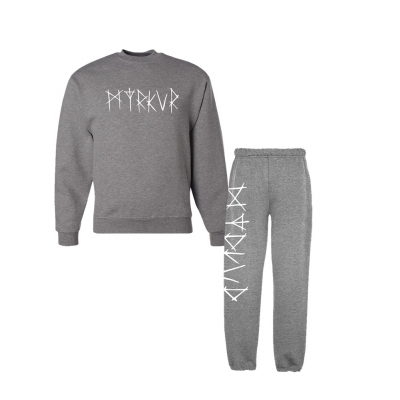 Myrkur Logo Sweatpants & Sweatshirt Bundle (Oxford Grey)