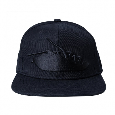 Blackout Roach Snapback Hat (Black)