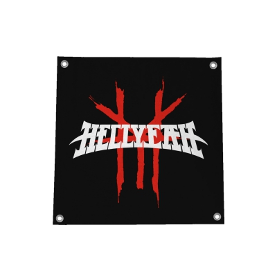 hellyeah - Logo Flag (Black)