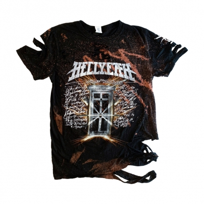 hellyeah - Welcome Custom Bleach / Cut Womens Tee (Black)