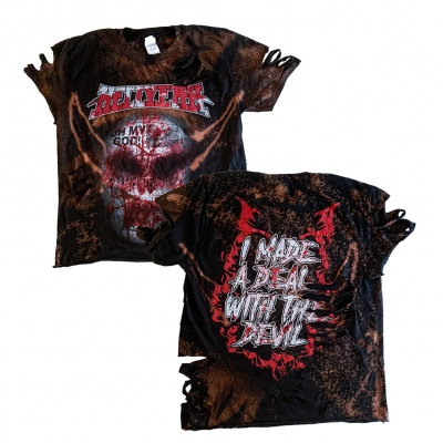 hellyeah - OMG Custom Bleach/Cut Women's Tee (Black)