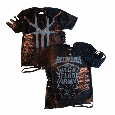 hellyeah - BFA Custom Bleach / Cut Women's Tee (Black)