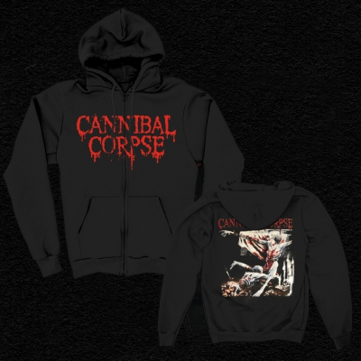 Tomb Of The Mutilated Zip Up Hoodie (Black)