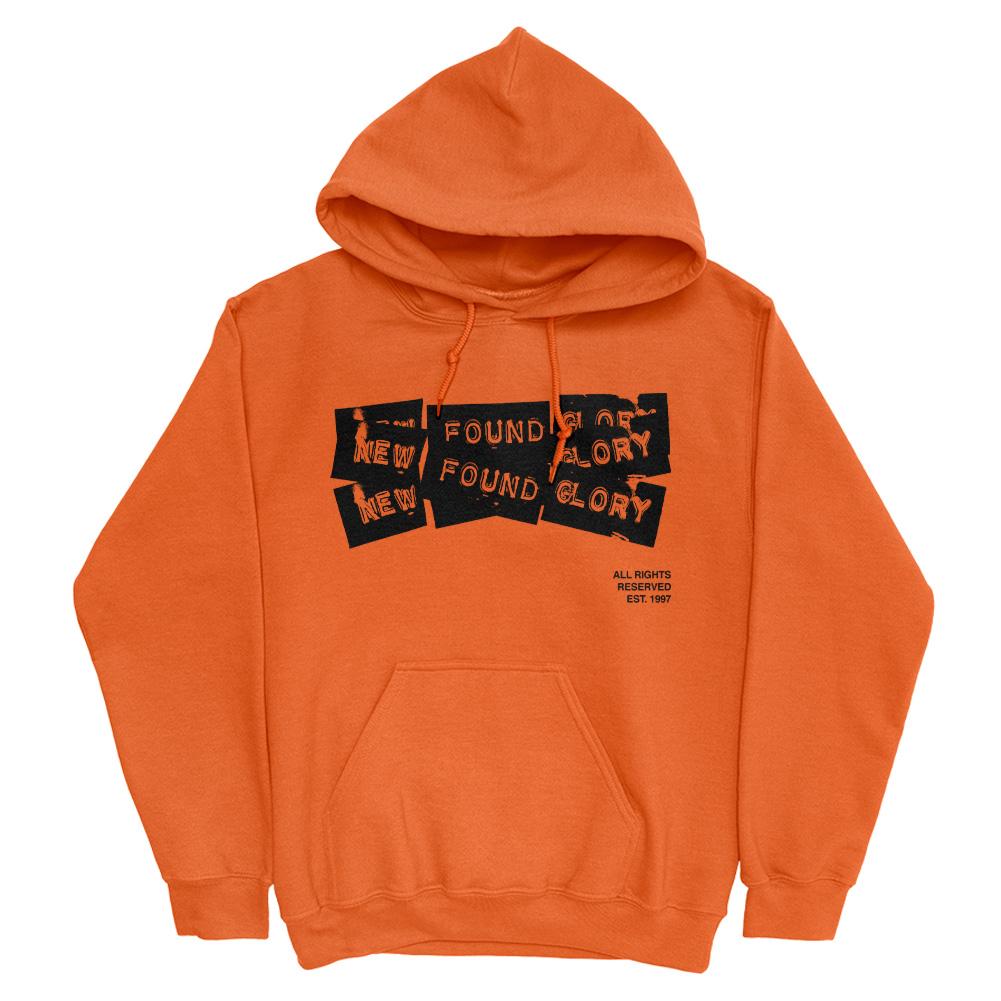 3 Tape Logo Pullover Hoodie (Safety Orange)