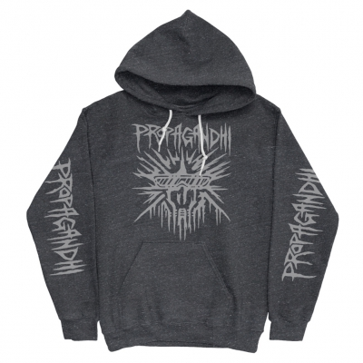 propagandhi - Buster Skull Pullover Hoodie (Heather Coal)