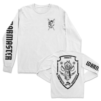 Bat Skull Fist Long Sleeve (White)