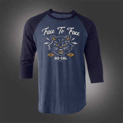 Bad Luck Cat Raglan (Heather Denim/Navy)