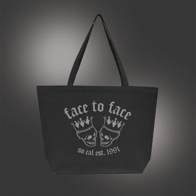 Skull Crown Jumbo Tote (Black)
