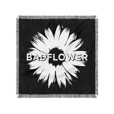 Flower Logo Woven Blanket