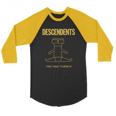 I Don't Want To Grow Up Raglan (Black/Gold)