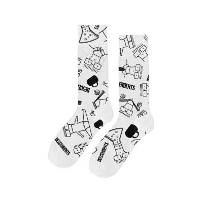 Descendents Milo Pattern Socks (White)