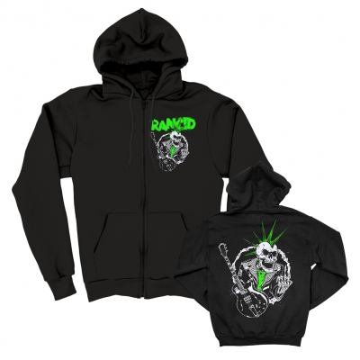 SkeleTim Guitar Zip Up Hoodie (Black)
