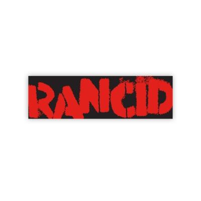 Logo Bumper Sticker (Red on Black)