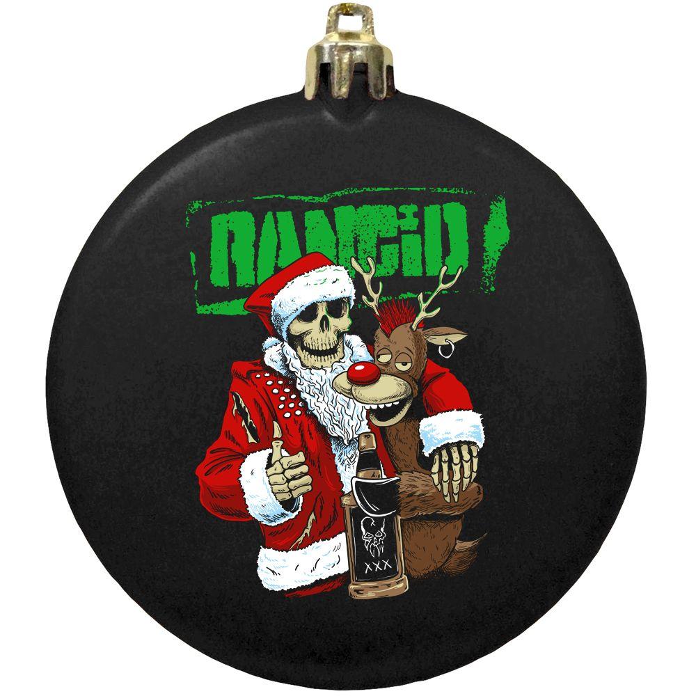 IMAGE   Drunken Santa Ornament