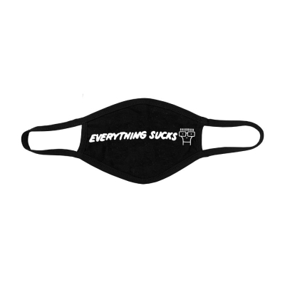 Everything Sucks Face Mask (Black)