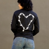 IMAGE | Barbed Wire Heart Long Sleeve (Black) - detail 3