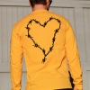 IMAGE | Barbed Wire Heart Long Sleeve (Gold) - detail 3