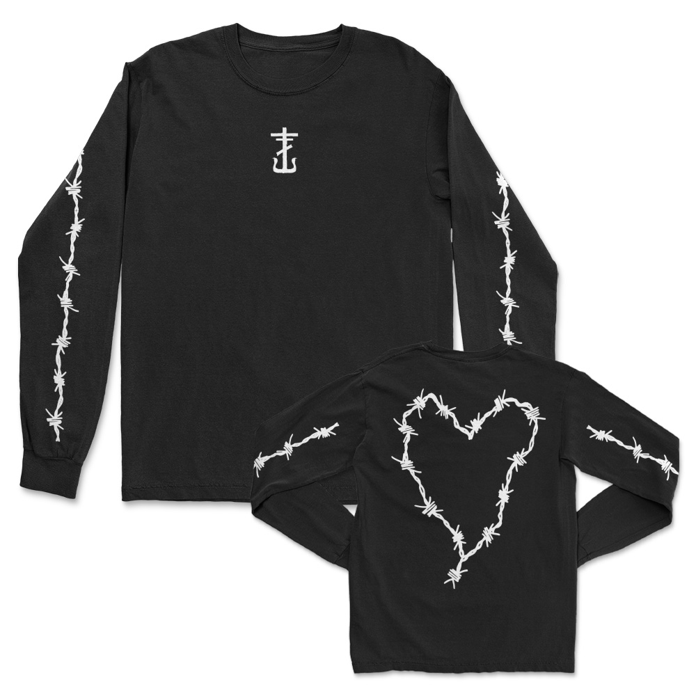 IMAGE | Barbed Wire Heart Long Sleeve (Black)