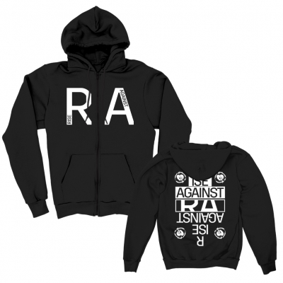 Reversed Zip Up Hoodie (Black)